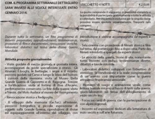 PROGETTO 1914-2014 CENTENARIO DELLA GRANDE GUERRA