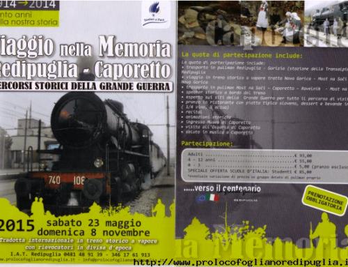 VIAGGIO NELLA MEMORIA REDIPUGLIA – CAPORETTO 2015