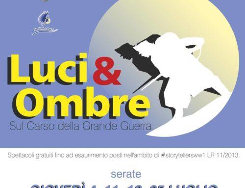 LUCI & OMBRE SUL CARSO DELLA GRANDE GUERRA 2019
