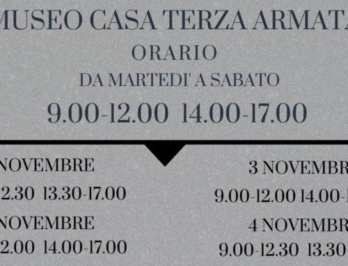 VARIAZIONE ORARIO MUSEO 2019